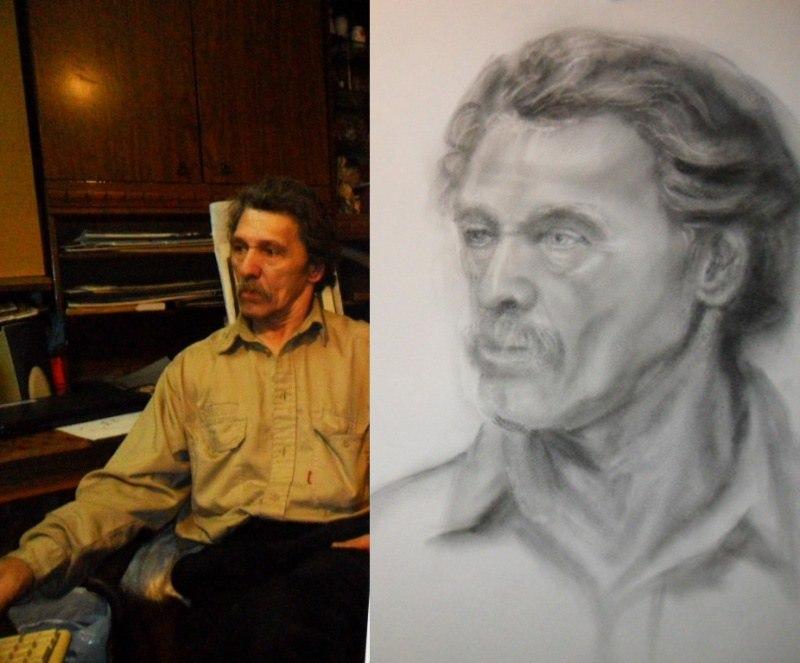 Мужской портрет с натуры карандашом