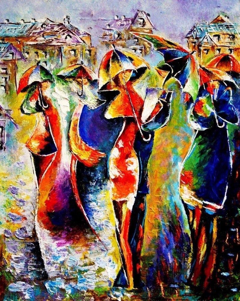 Радужные зонты
