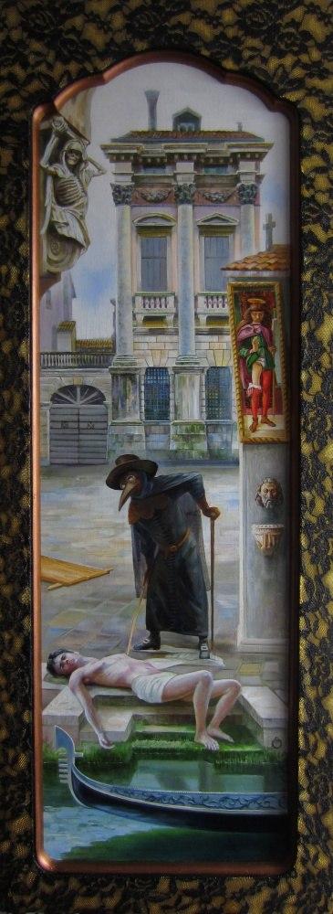 Пейзаж святого Роха. Запад. (левая часть диптиха)