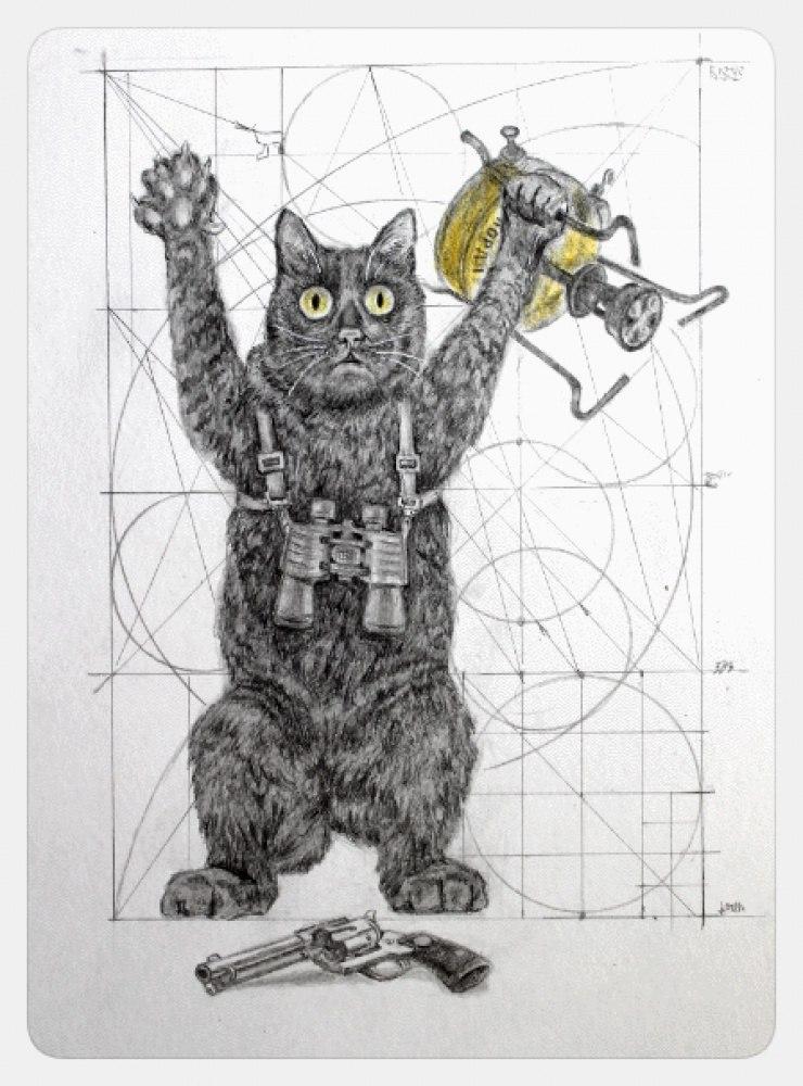 Как правильно нарисовать кота судебному художнику при его задержании