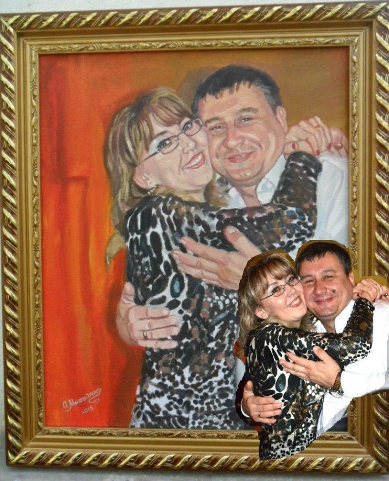 Двойной портрет по фото, холст, масло