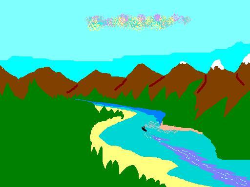 Куда река бежит