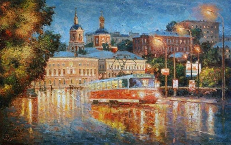 Московский трамвай.