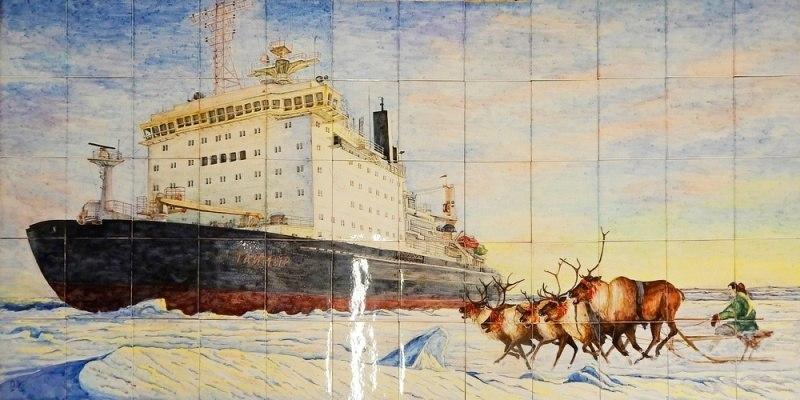 """Керамическое панно """"Арктика"""""""
