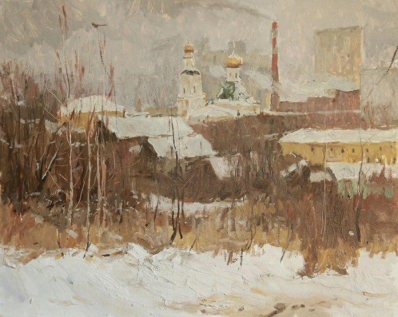 Зима в окрестностях Екатеринбурга. Этюд