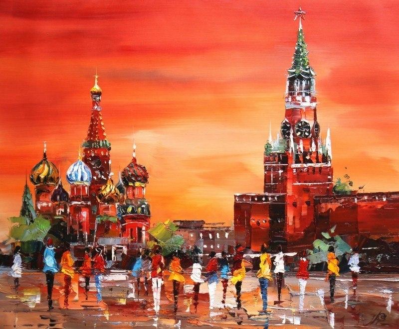 Red Square. Red sunset (Красная площадь. Красный закат)