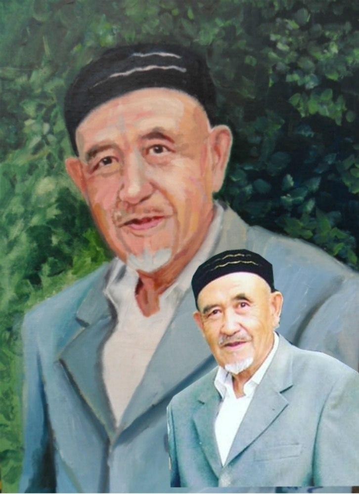 Портрет дедушки по фото на заказ
