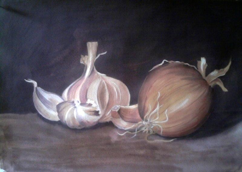 чеснок и лук
