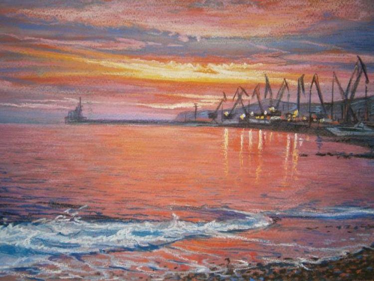 Утро в Феодосийском порту