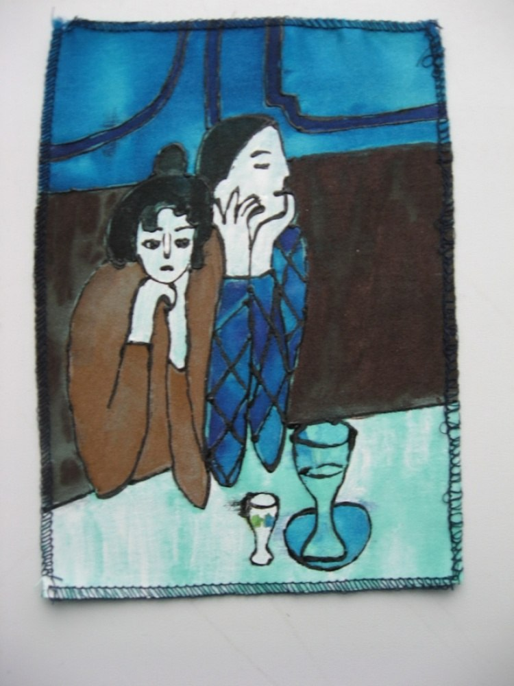 Пабло Пикассо, «Арлекин с подружкой»