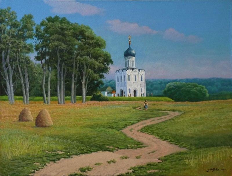 Дорога к храму Покрова