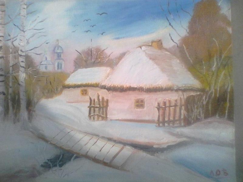 """Вариации по мотивам картины """"Вечер в Малороссии"""", художника О. Шупляка."""