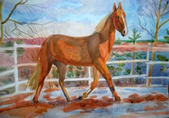 Весна. Лошадь.