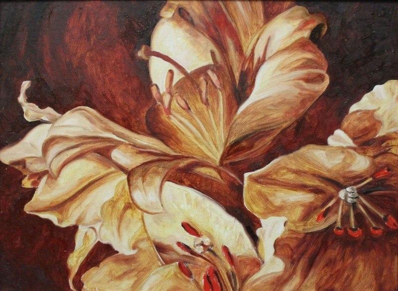 Оранжевые лилии