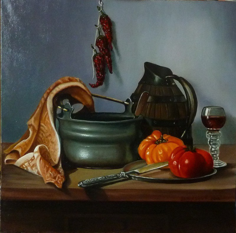 ,,натюрморт с помидорами,,