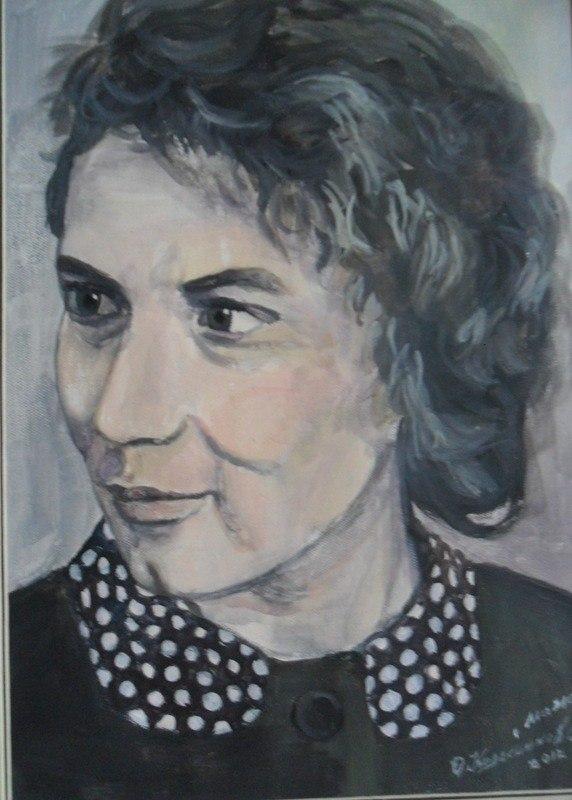 рисованный портрет по фото, портрет моей мамы