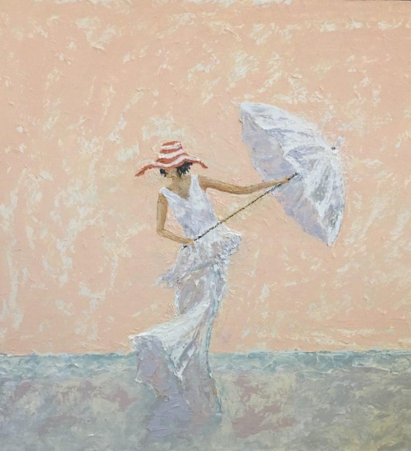 Дама с зонтом  по мотивам Andre Kohn