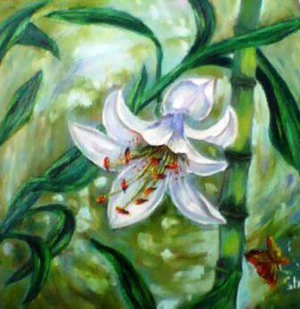 Лилия и бамбук