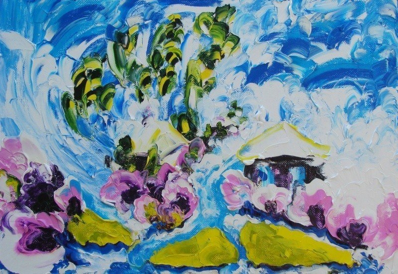 Spring. Oil on canvas,