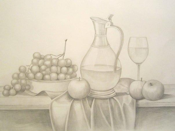 Натюрморт с вином 2