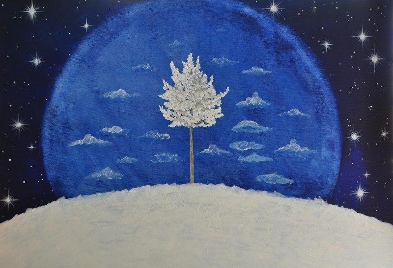 Белое деревцо