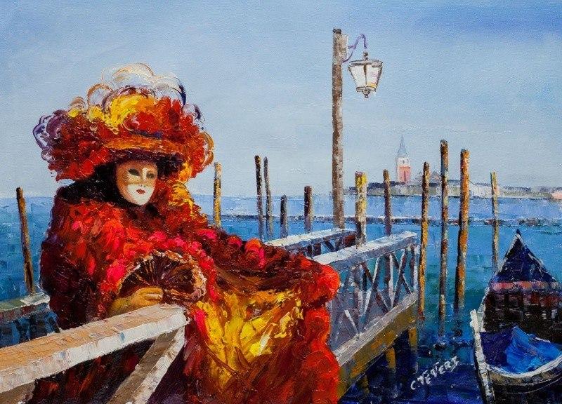 Венеция. Маски веницианского карнавала N3