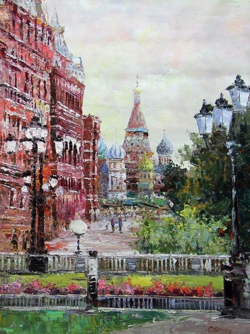 Москва. Вид на Собор Василия Блаженного и Исторический музей