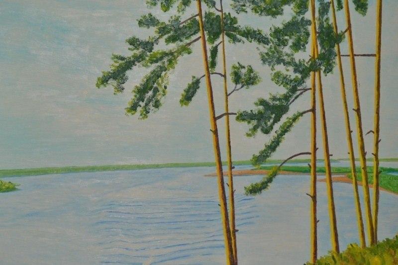 Рецензия на картину Н.Д.Попова (Кота) «На Оби. Барнаул»