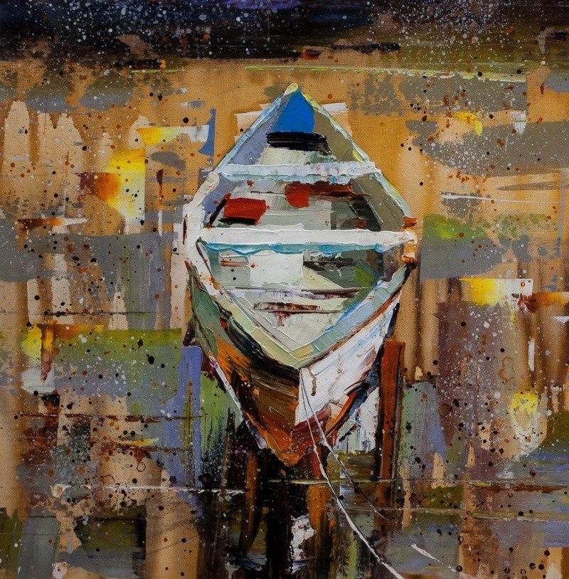 Лодка на воде N5