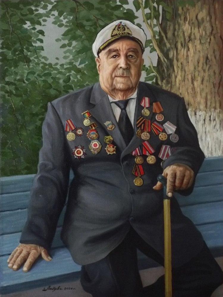 Ветеран ВОВ  А.И. Калашников
