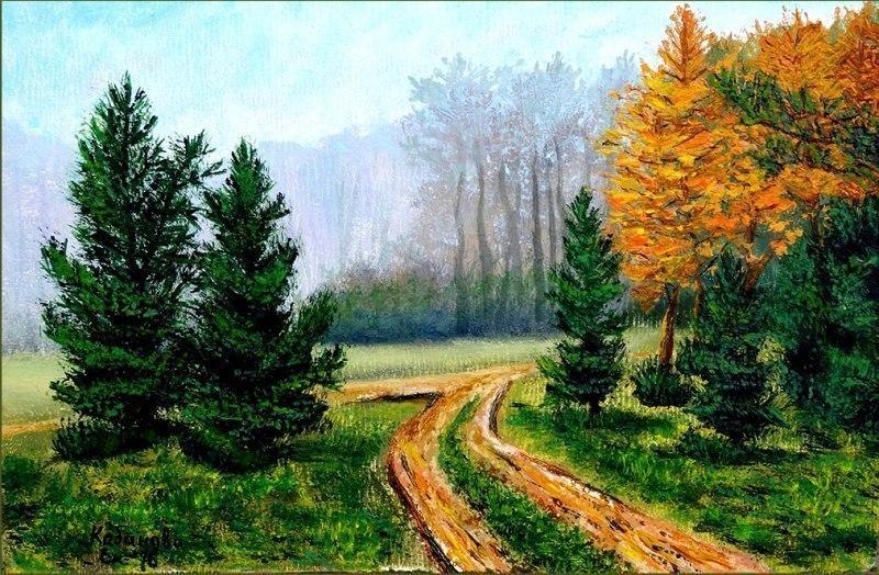 Дорожка меж елок