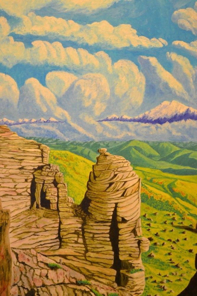 Вид на Эльбрус с плато Бермамыт