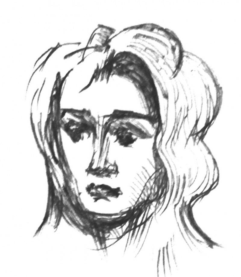 єскиз к портрету