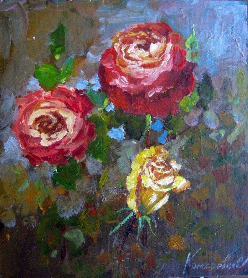 Розы,малый формат