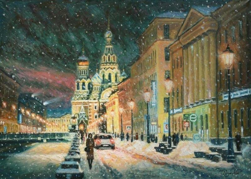 Прогуливаясь по зимнему Петербургу
