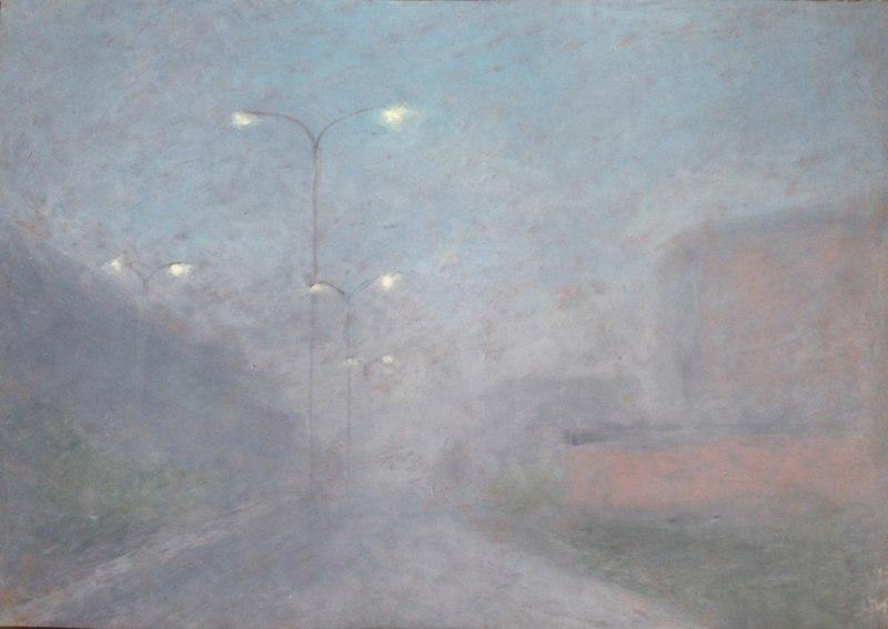 туман и фонари