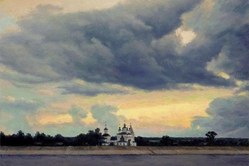 Дымковская слобода. Летний вечер.