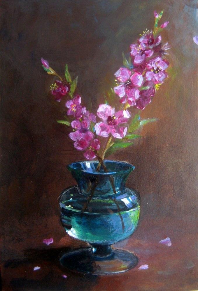 Ветка цветущая персика