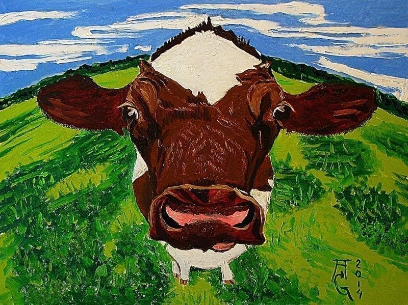 Задумчивая корова