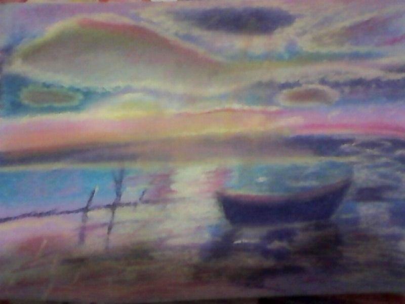Зеркальное озеро, закат