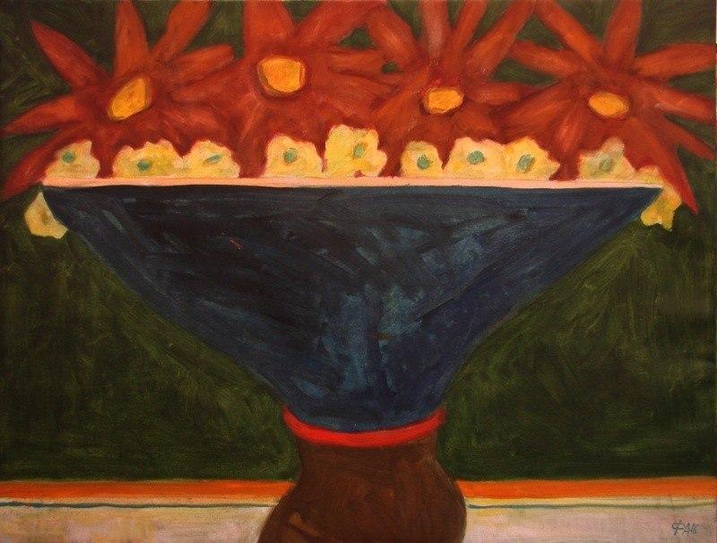 Цветы в синей обертке