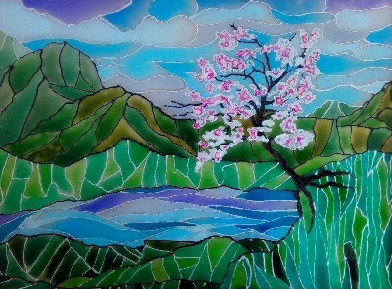 Сакура на берегу