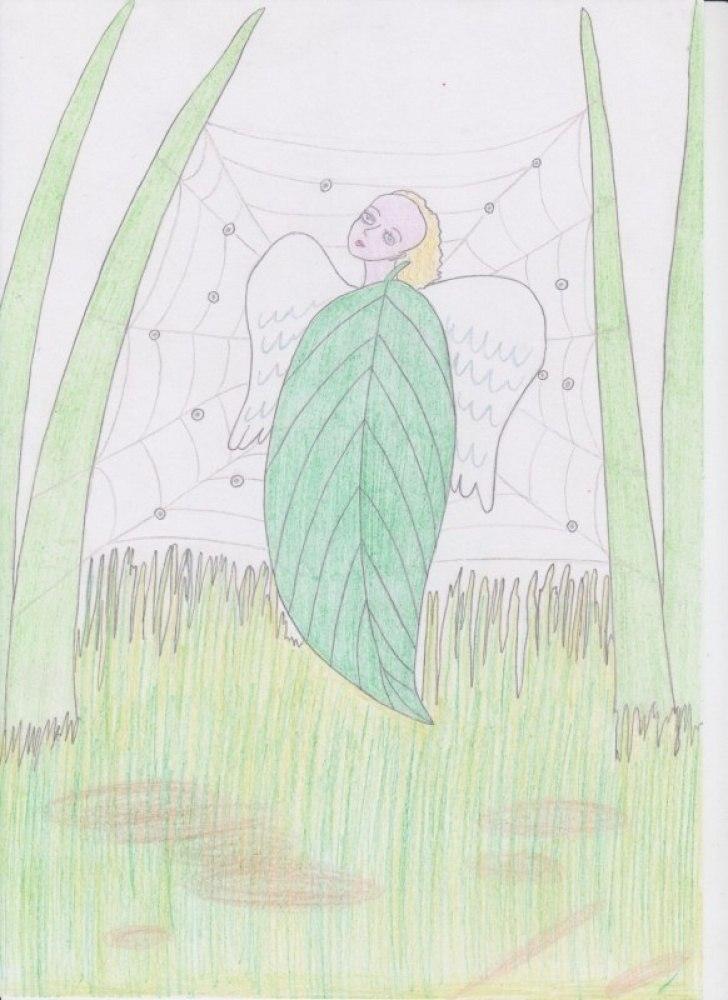 Ангел. Зелёный лист