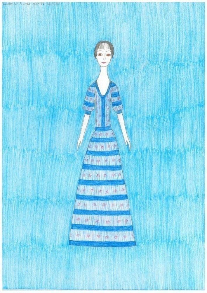 Романтика Марины Цветаевой. Синее платье