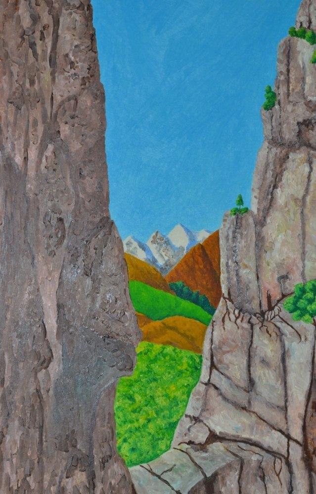Вид на горы Кавказа