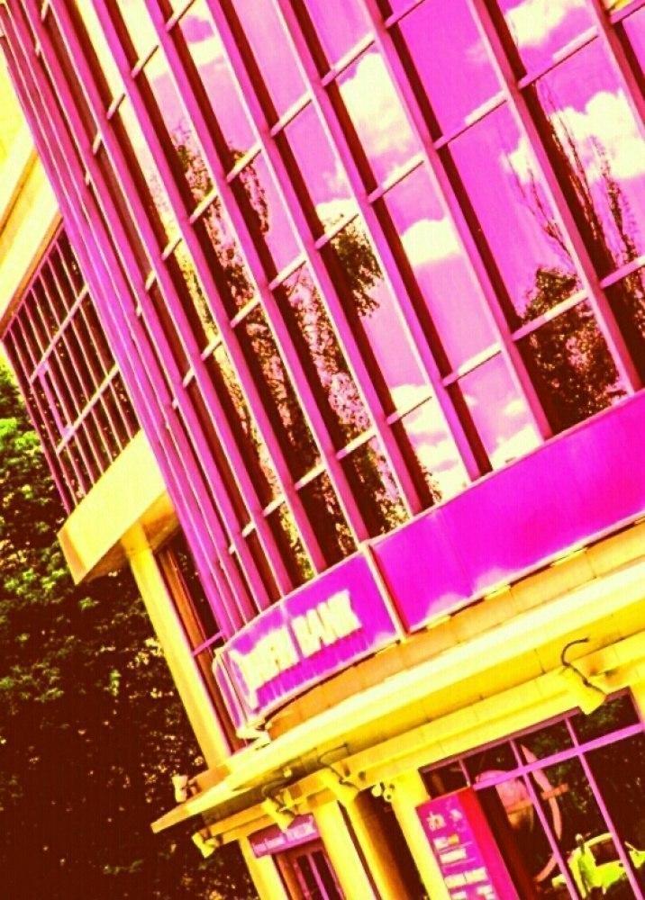 город, окна