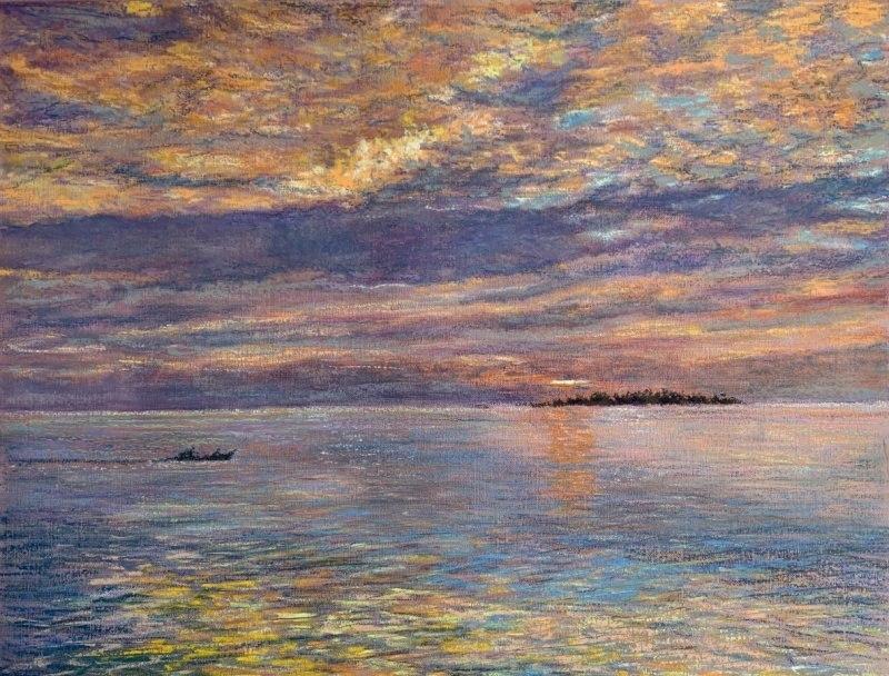 Закат в океане (II)