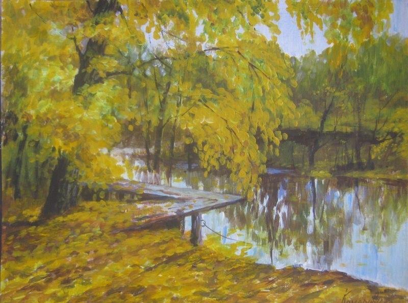 Осень, у пруда